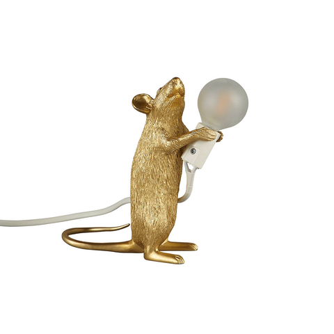 Mouse Lamp Standing (Gold)