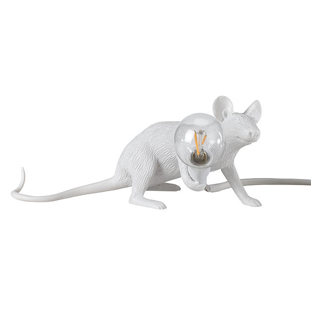 White Mouse Lamp - Lying Down Homeware - Lighting Seletti for We Built This City 1