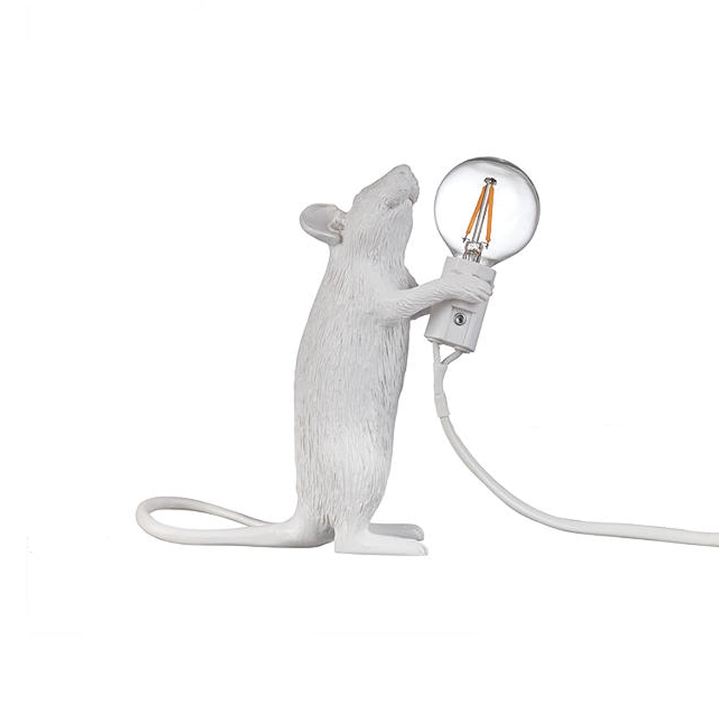 White Mouse Lamp - Standing