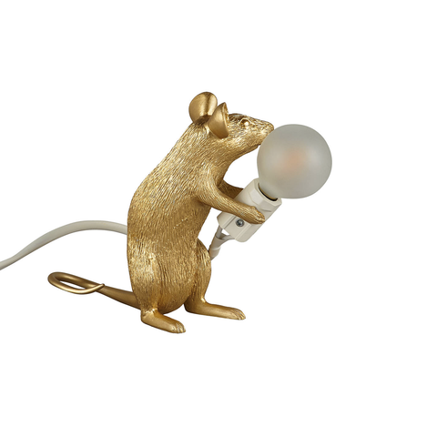 Mouse Lamp Sitting (Gold)
