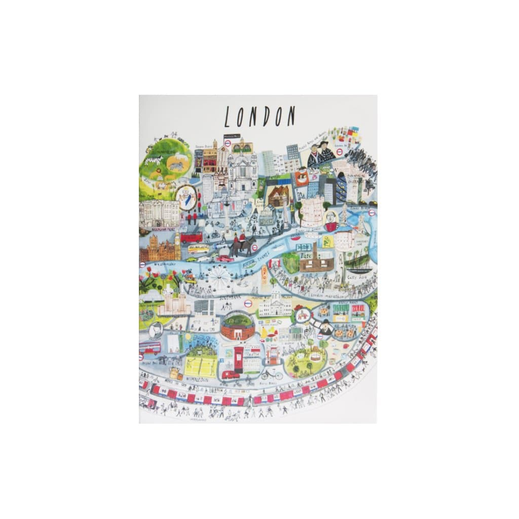 London Mapped Out Card - Couthie Card - London Maisie Paradise Shearring for We Built This City 1