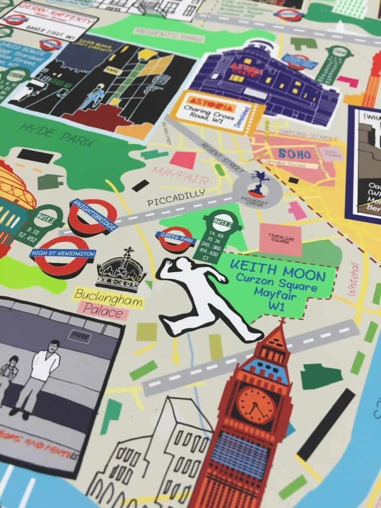 London Music Map (A3)