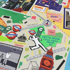 London Music Map (A3) Art Map Nick Faber & RUDE for We Built This City 3