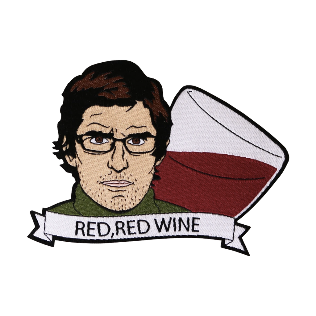 Louis Theroux Red Wine Patch