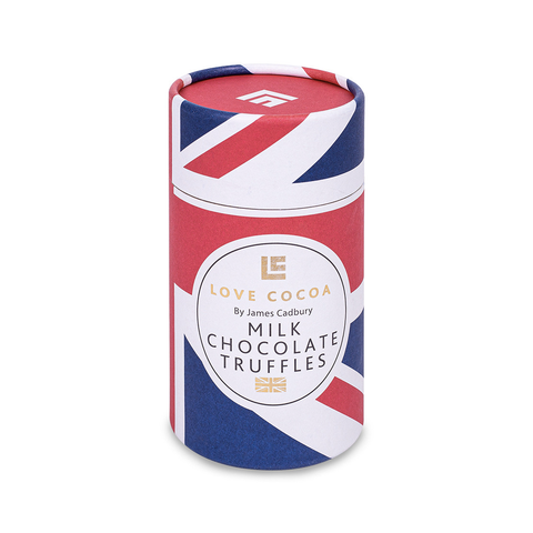 Union Jack Chocolate Truffle Tube