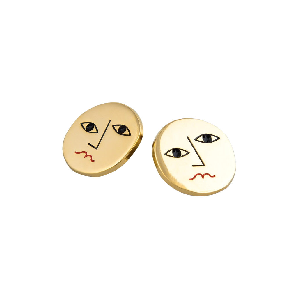 Milk Tooth Face Earrings