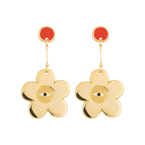 Milk Tooth Flower Earrings