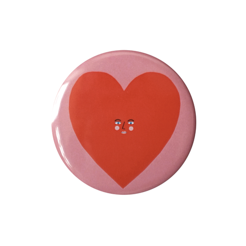 Heart Face Pocket Mirror