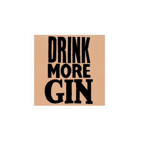 Drink More Gin card