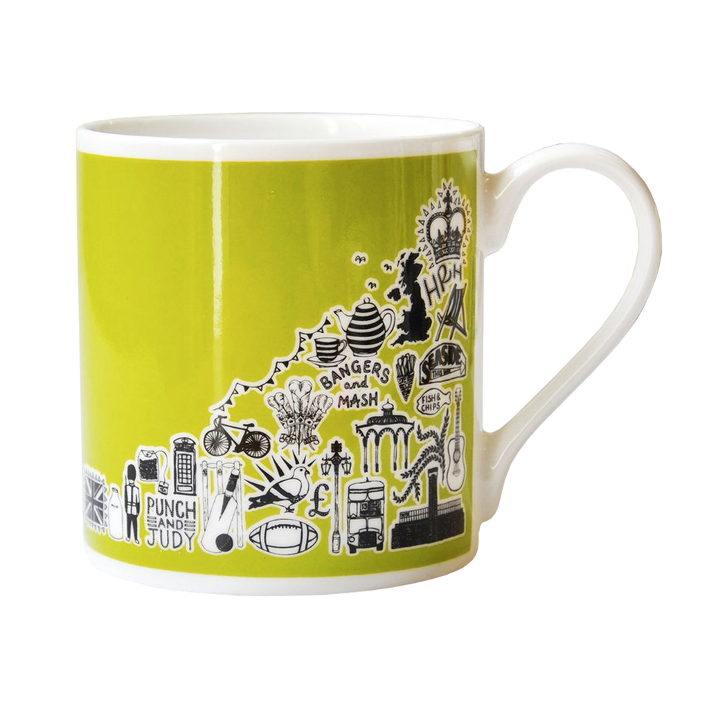 Green British Mug Ceramics - Drinking Vessels Martha Mitchell for We Built This City 1