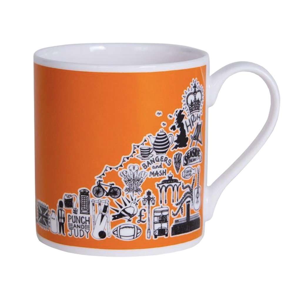 Orange British Mug Ceramics - Drinking Vessels Martha Mitchell for We Built This City 1