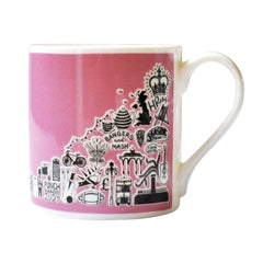 Pink British Mug Ceramics - Drinking Vessels Martha Mitchell for We Built This City 1