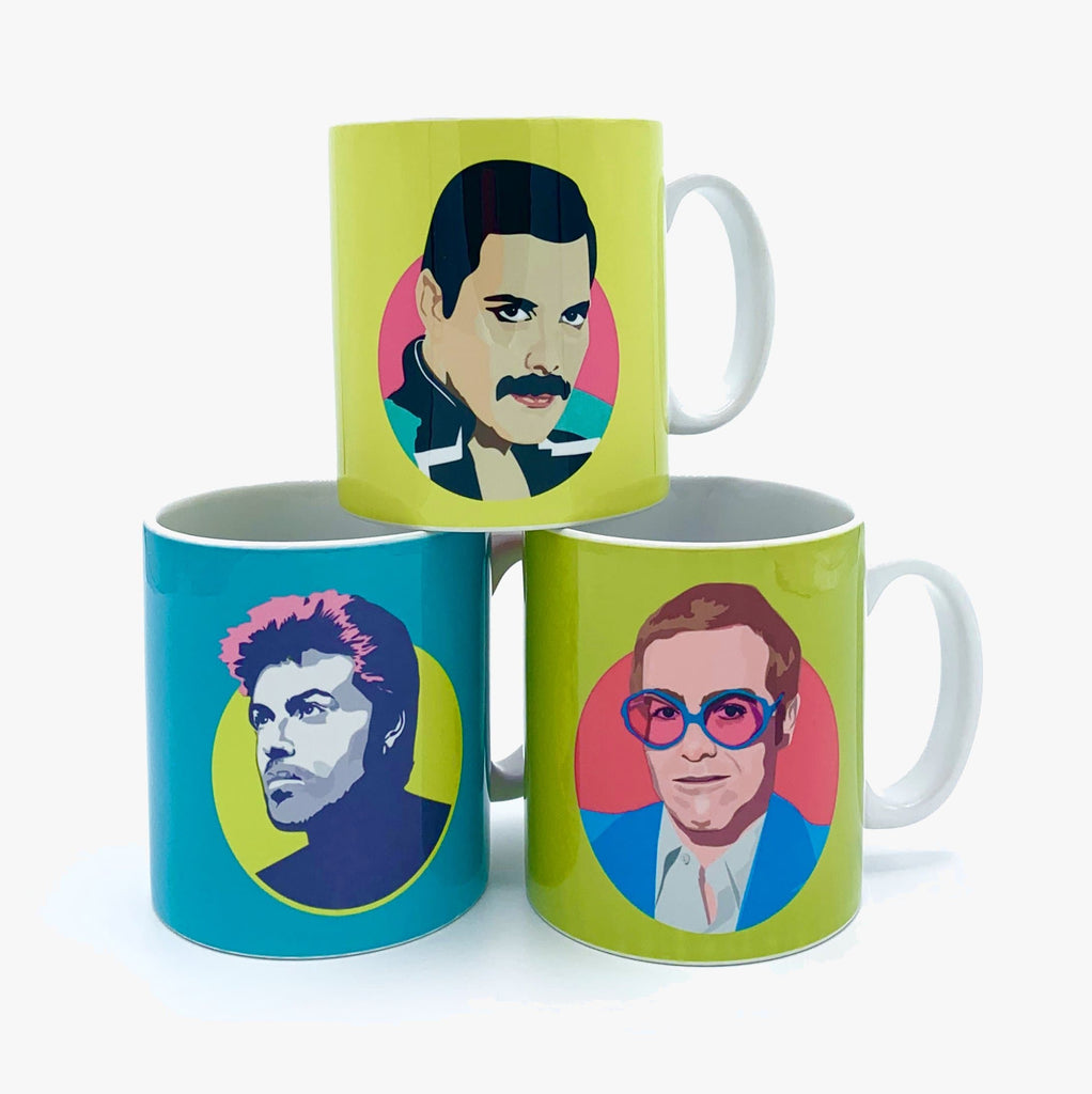 Freddie Mercury Mug Ceramics - Drinking Vessels Sabi Koz for We Built This City 2
