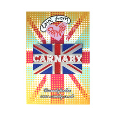 Carnaby Glitter Union Flag Enamel Pin Pins & Patches Thread Famous for We Built This City 2