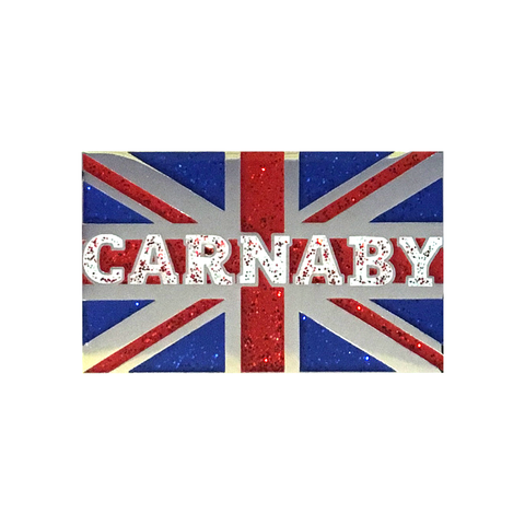 Carnaby Glitter Union Flag Enamel Pin