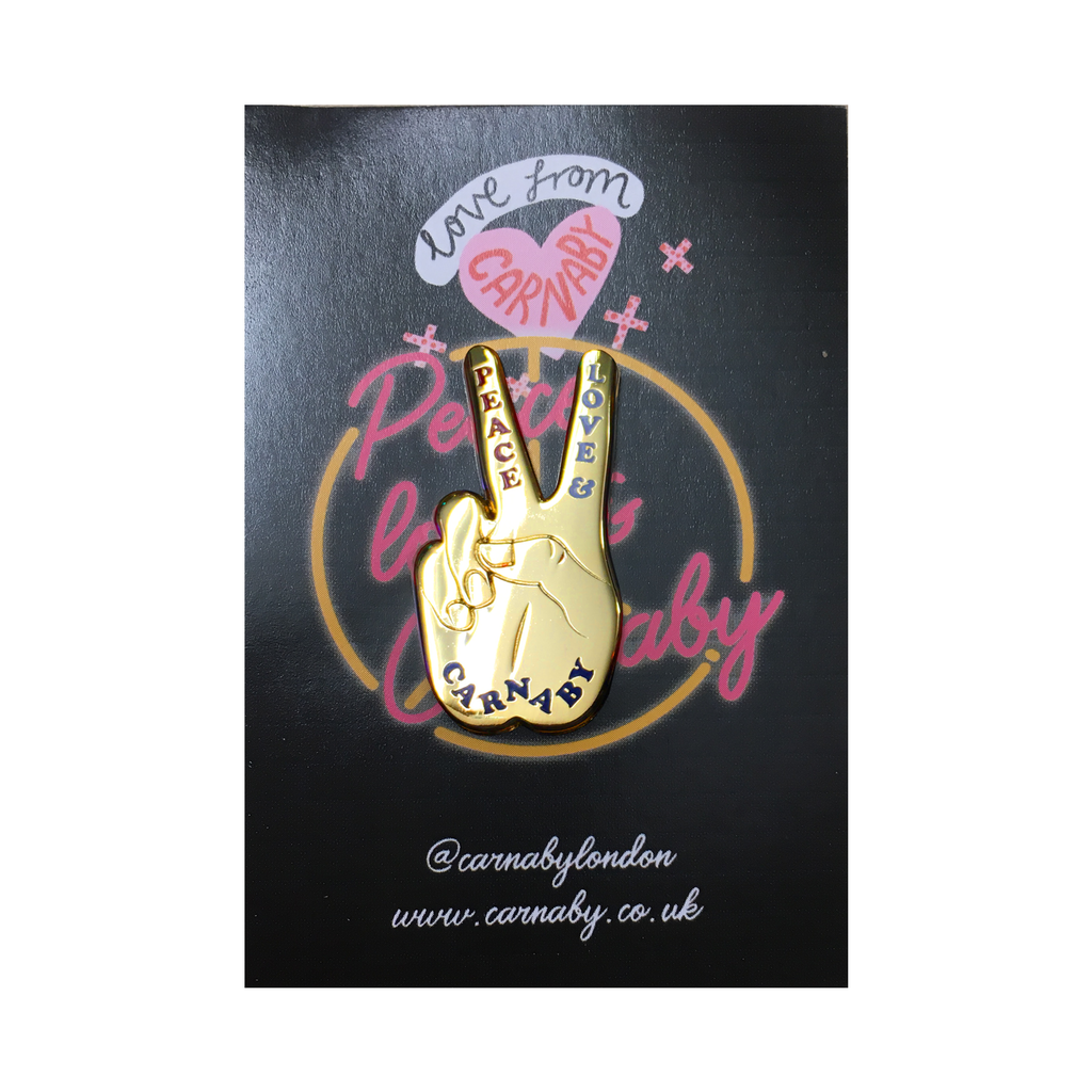 Peace, Love, Carnaby Enamel Pin