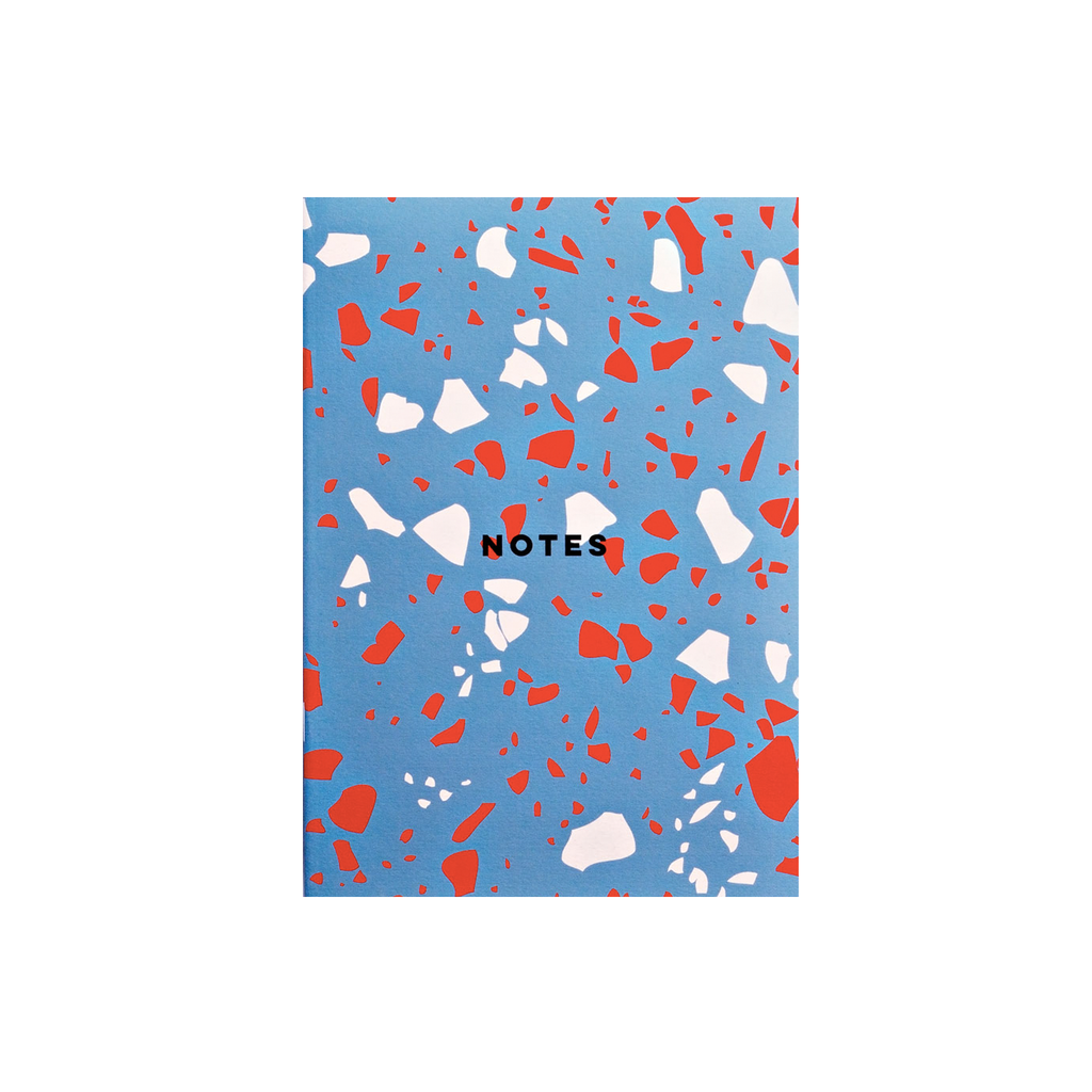 Blue Terrazzo Notebook Stationery & Craft - Notebooks The Completist for We Built This City 1