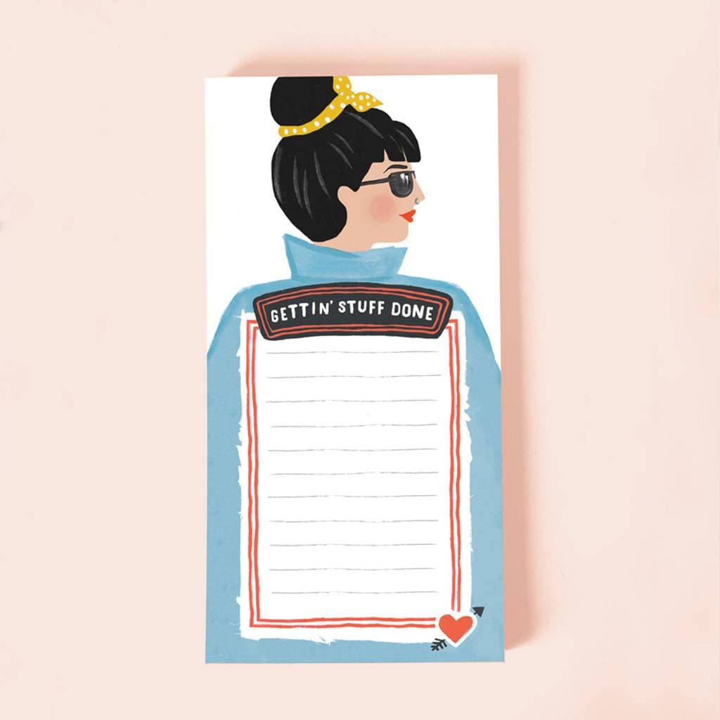 Gettin' Stuff Done Notepad Stationery & Craft - Notebooks Jade Fisher for We Built This City 1