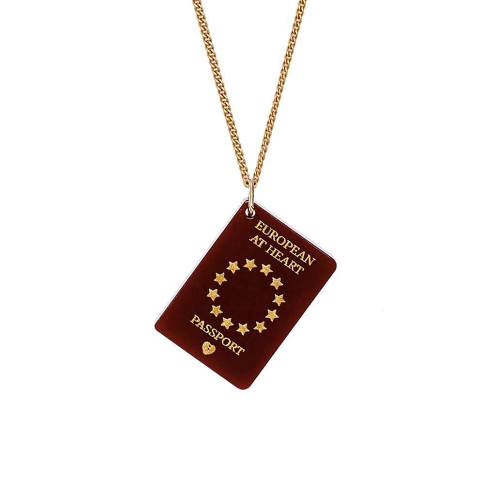 EU Passport Necklace Jewellery - Necklace Tatty Devine for We Built This City 1