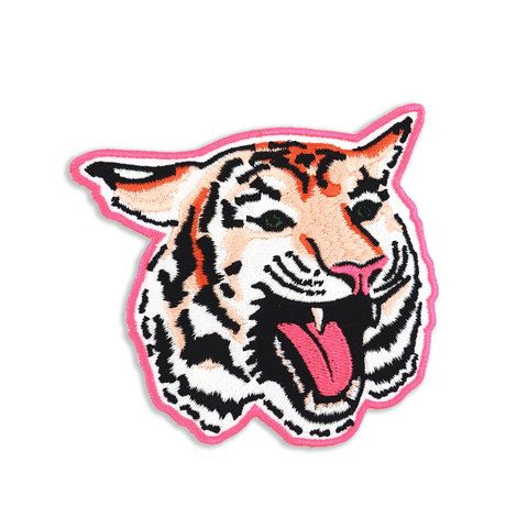 Tiger Face - Iron on Patch