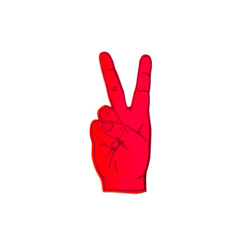 Peace Out London Leather Brooch