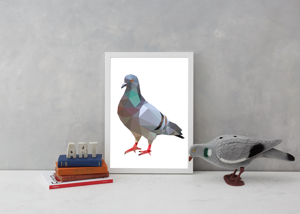 Geometric Pigeon Art Wildlife Michail Kaus for We Built This City 3