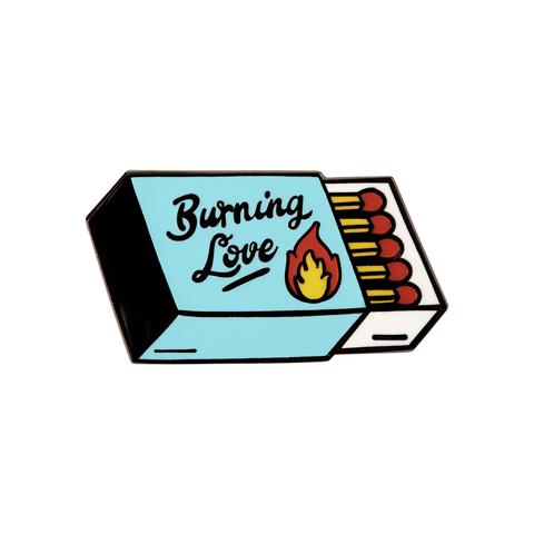 Burning Love Enamel Pin