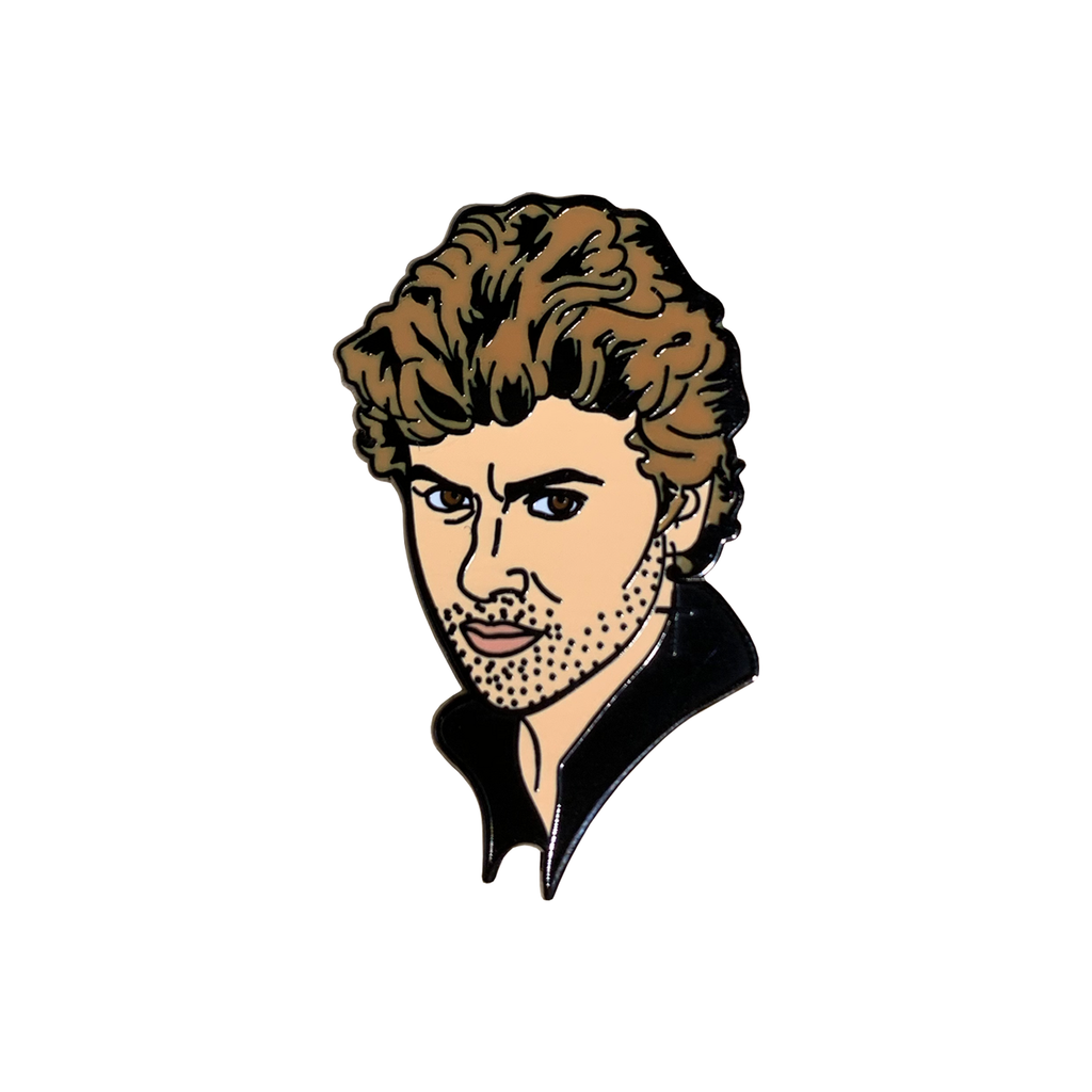 George Michael Enamel Pin Pins & Patches Thread Famous for We Built This City 1