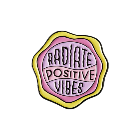 Radiate Positive Vibes Enamel Pin