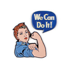 Rosie The Riveter & We Can Do It Enamel Pins Pins & Patches Unemployed Philosophers Guild for We Built This City 1