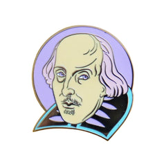 Pastel Shakespeare Enamel Pin Pins & Patches Thread Famous for We Built This City 1