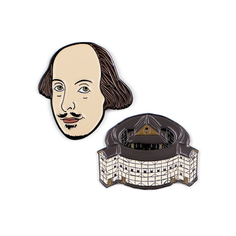 William Shakespeare & The Globe Enamel Pins