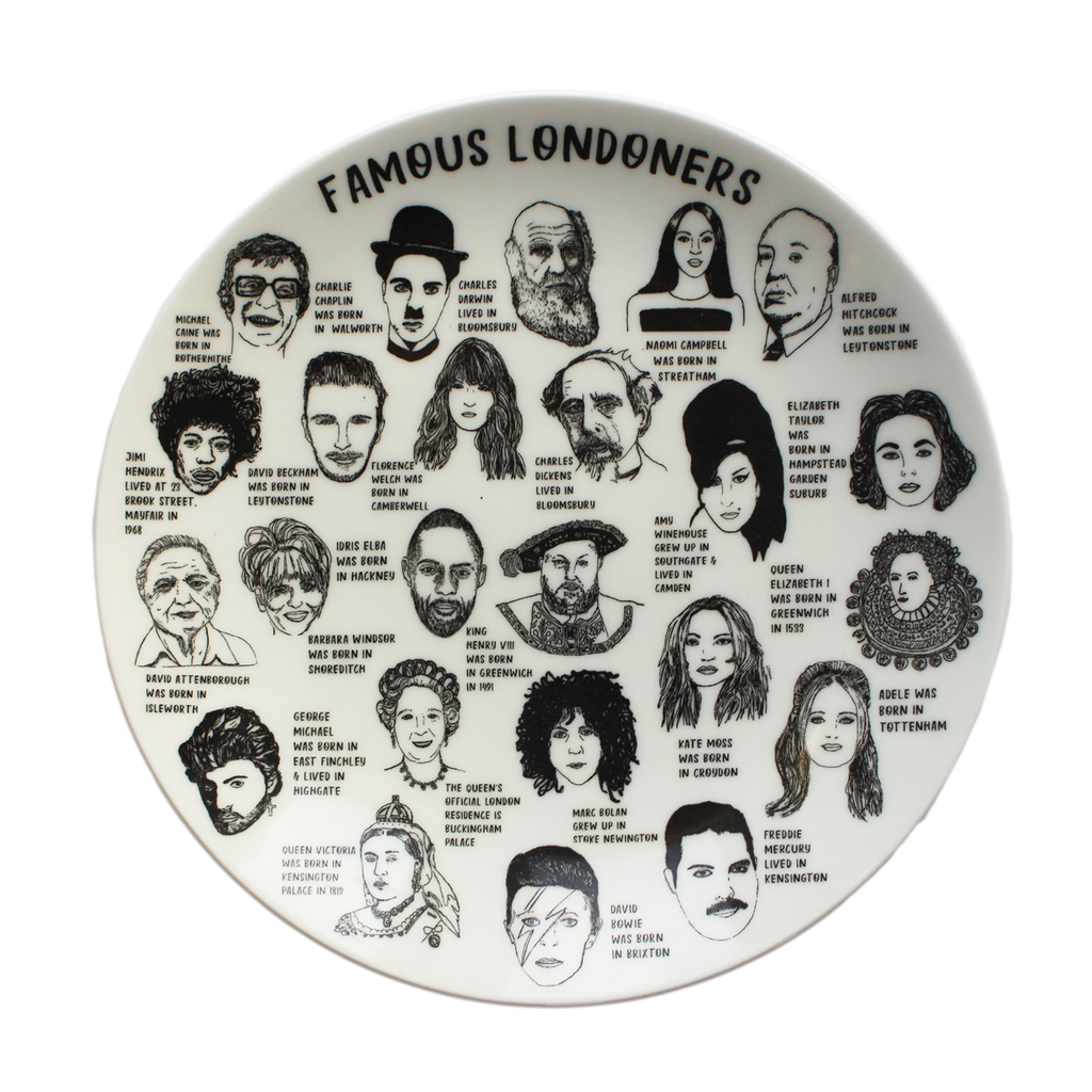 Famous Londoners Plate