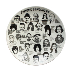 Famous Londoners Plate Ceramics - Plates House of Cally for We Built This City 1