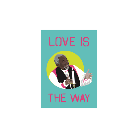 Love Is The Way Bishop Curry (postcard) - Sabi Koz