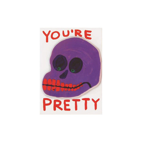 You're Pretty card and sticker