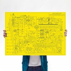 *YELLOW* Acid House Love Blueprint Art Music Dorothy for We Built This City 1