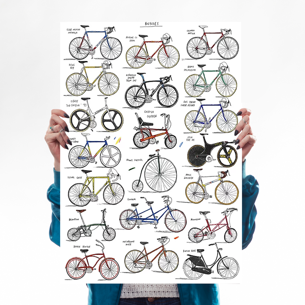 Bicycles + Cycling Jerseys - Set of 2