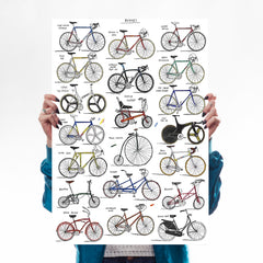 Bicycles + Cycling Jerseys - Set of 2 Art Lifestyle David Sparshott for We Built This City 3