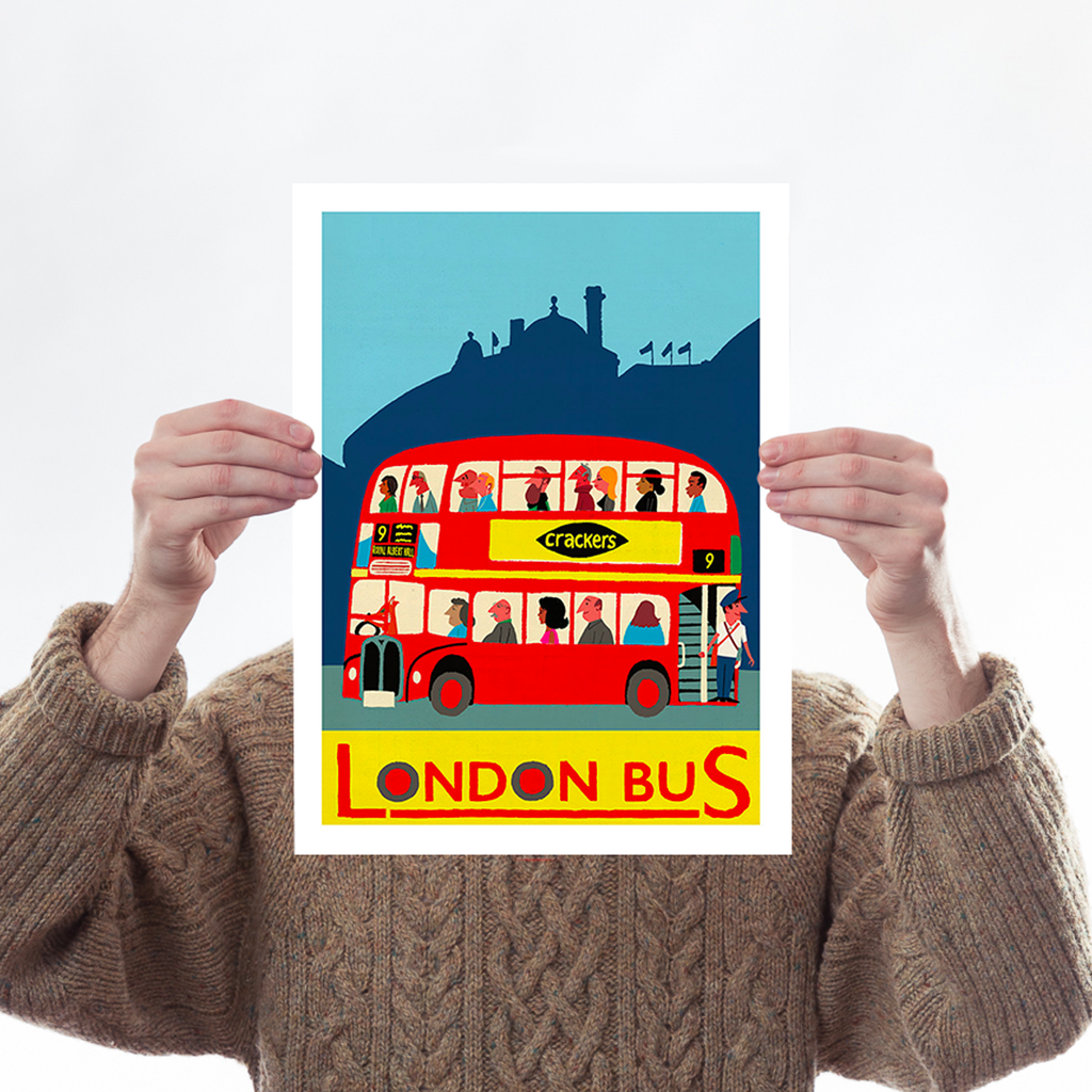 The Tube & London Bus - Set of 2 Art Icons Paul Thurlby for We Built This City 3