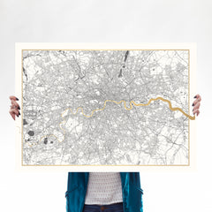 Gold Thames London - Catford Creative (A1) Art Map Catford Creative for We Built This City 1