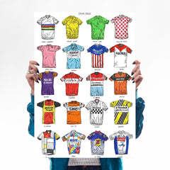 Bicycles + Cycling Jerseys - Set of 2 Art Lifestyle David Sparshott for We Built This City 2