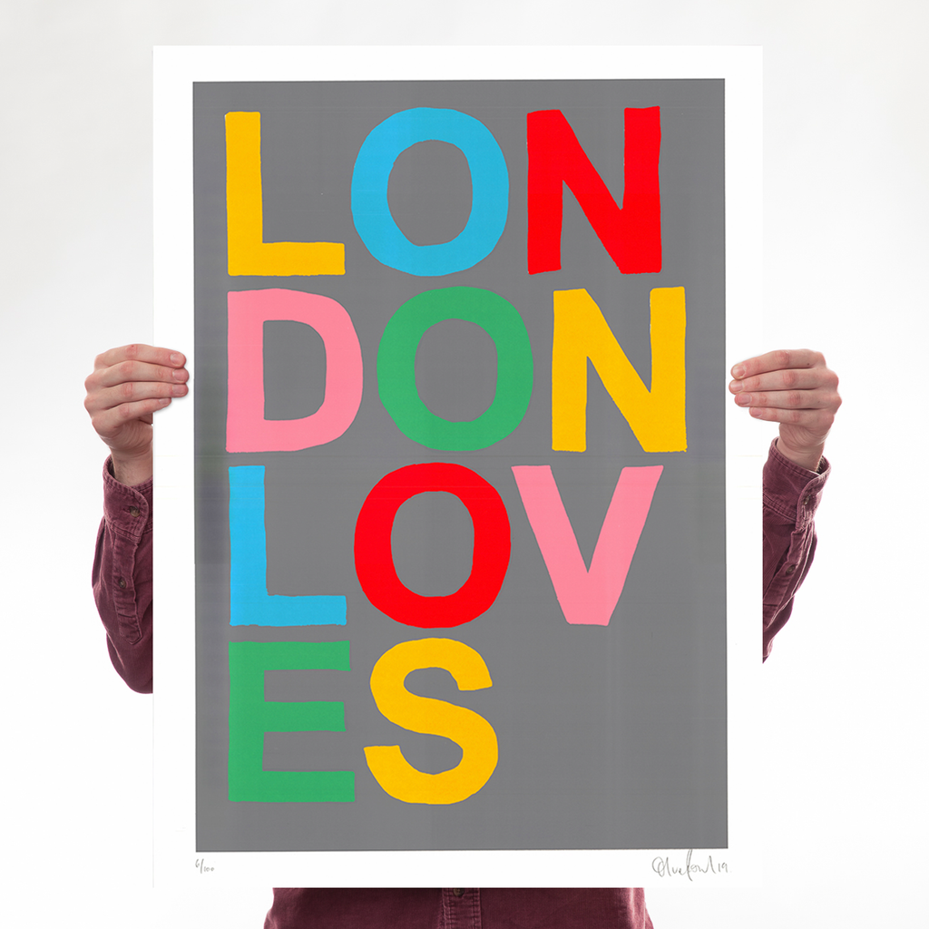 London Loves Art Typography Oli Fowler for We Built This City 1