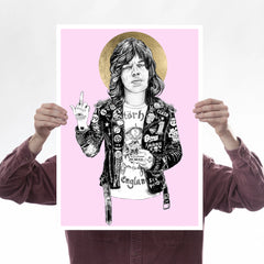 Saint Jagger (Pink) Art Music Rugman for We Built This City 1