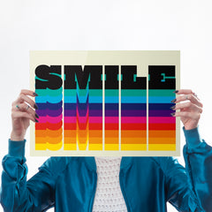 Rainbow Smile Art Typography North Six Graphic Design for We Built This City 1