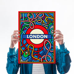 London Underground - Print Set Art Icons Season Of Victory for We Built This City 3