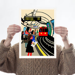 The Tube & London Bus - Set of 2 Art Icons Paul Thurlby for We Built This City 2