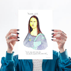 Moaner Lisa (A4) - Dan Jamieson Art Humour Dan Jamieson for We Built This City 1