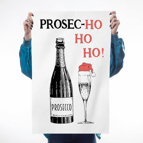 Prosec-hohoho Tea Towel