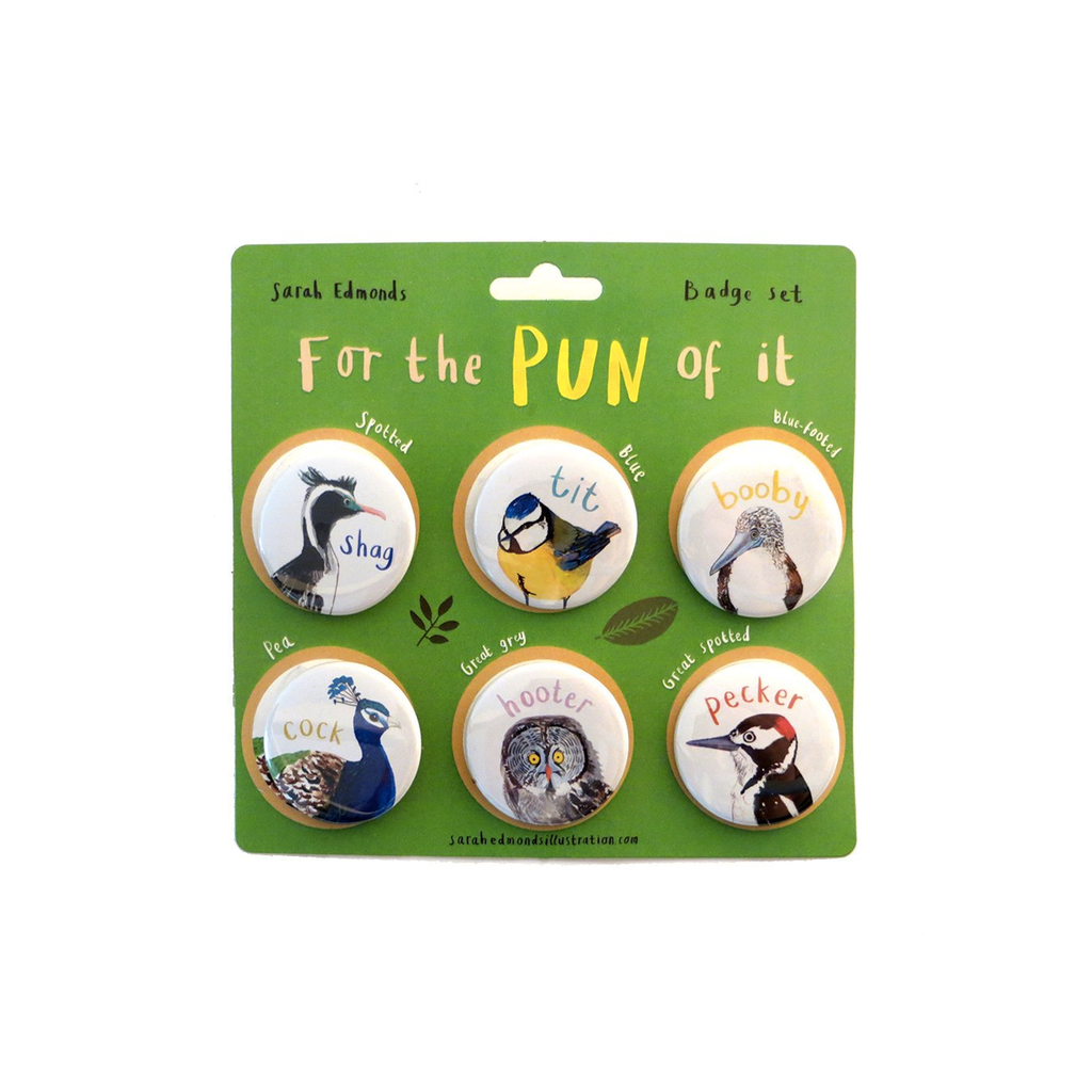 For The Pun of It Badge Set